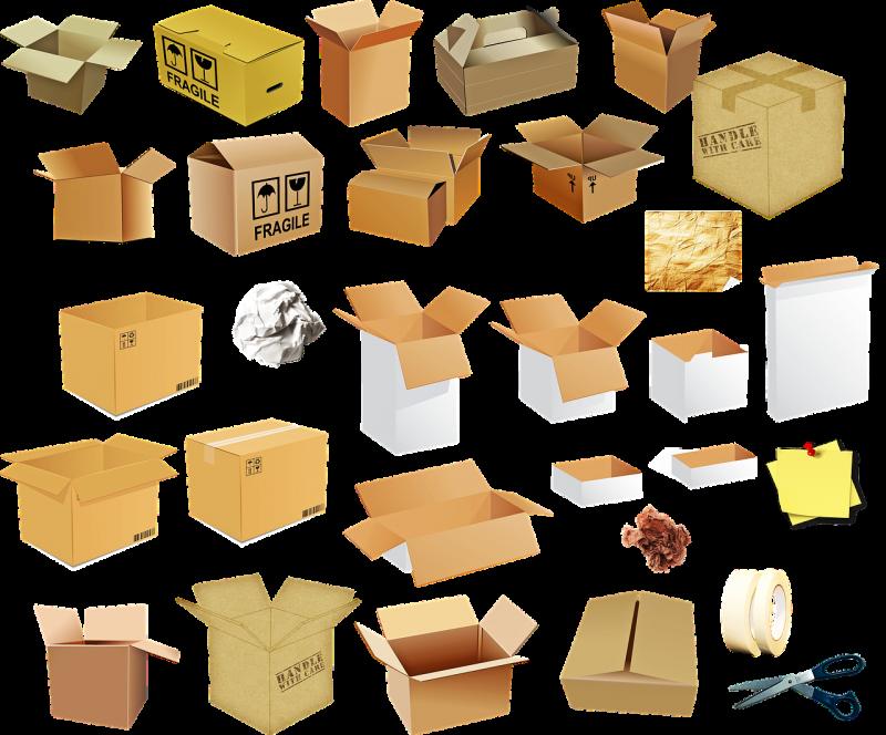 cajas de cartón de embalaje y mudanza